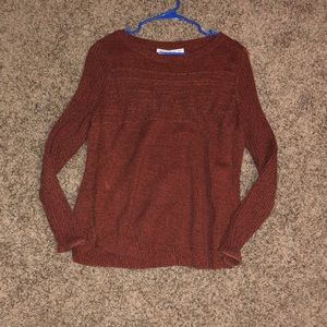 Cozy fall sweater (burnt orange)